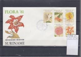 Surinam Michel Cat.No. FDC 929/933 Flowers - Surinam
