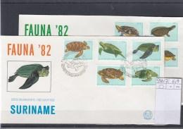 Surinam Michel Cat.No. FDC 970/977 Turtles - Surinam