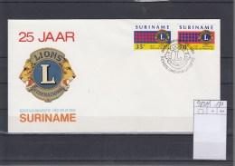 Surinam Michel Cat.No. FDC 983/984 Lions - Surinam