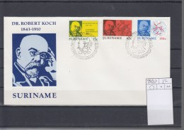 Surinam Michel Cat.No. FDC 990/992 Robert Koch - Surinam