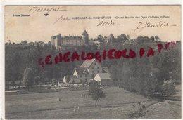03- SAINT BONNET DE ROCHEFORT - GRAND MOULIN DES OYES  CHATEAU ET PARC - EDITEUR BIONNIER 1908 - Autres Communes