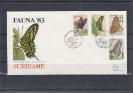 Surinam Michel Cat.No. FDC 1040/1051 Butterfly - Surinam