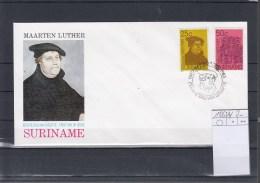 Surinam Michel Cat.No. FDC 1063/1064 Luther - Surinam