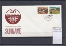 Surinam Michel Cat.No. FDC 1080/1081 ICAO - Surinam