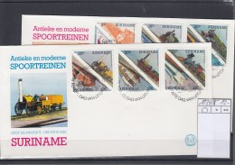 Surinam Michel Cat.No. FDC 1134/1145 Trains - Surinam