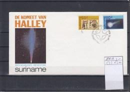 Surinam Michel Cat.No. FDC 1170/1171 Halley - Surinam