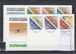 Surinam Michel Cat.No. FDC 1223/1234 Airplanes - Surinam