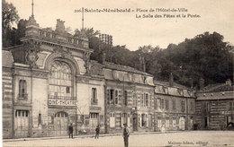 SAINTE MENEHOULD - Place De L' Hotel De Ville - La Salles Des Fetes Et La Poste - Ciné-Théatre (Cinéma)  (107544) - Sainte-Menehould