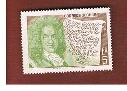 CILE (CHILE)  -  SG 609  -  1965 PHILIP V OF SPAIN      -  MINT** - Chile