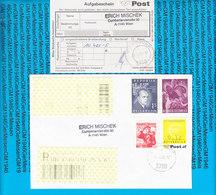 Austria Einschreiben Couvert Mit Aufgabeschein 3710 Ziersdorf - 2002 - Poststempel - Freistempel