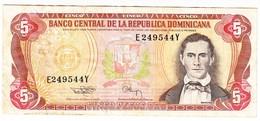 REPUBLIQUE DOMINICAINE - Billet De 5 PESOS De 1994 - Dominicana