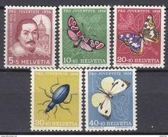 SCHWEIZ  632-636, Postfrisch **, Pro Juventute: Insekten 1956 - Pro Juventute