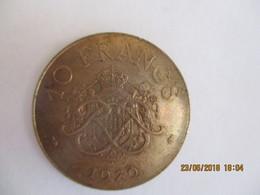 Monaco: 10 Francs 1979 - 1960-2001 Nouveaux Francs