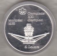 Canada 5 Dollars 1974 JO Montréal 1976 Aviron, Argent  Unc Dans Sa Capsule - Canada