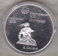 Canada 5 Dollars 1974 JO Montréal 1976 Canoeing, Argent  Unc Dans Sa Capsule - Canada