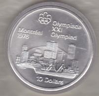 Canada 10 Dollars 1973 JO Montréal 1976 Vue Sur Montréal, Argent  Unc Dans Sa Capsule - Canada