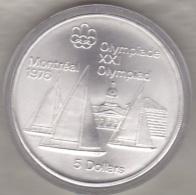 Canada 5 Dollars 1973 JO Montréal 1976 Kingston Et Voiliers ,Argent  Unc Dans Sa Capsule - Canada