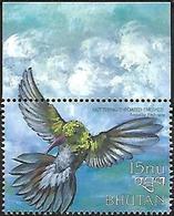Bhutan - 1999 - MNH - Glittering-throated Emerald (Amazilia Fimbriata) - Hummingbirds