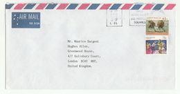 Air Mail AUSTRALIA COVER Multi POSSUM Stamps To GB - 1990-99 Elizabeth II