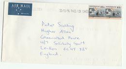1996 Air Mail AUSTRALIA COVER Multi PELICAN Bird Stamps To GB Birds - 1990-99 Elizabeth II