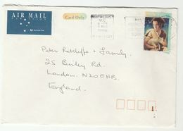 1996 Air Mail AUSTRALIA COVER  $1 CHRISTMAS SHEEP Stamps To GB - 1990-99 Elizabeth II
