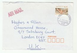 1998 Round Corner Post Office Air Mail AUSTRALIA COVER  $1.20 COCKATOO BIRD Stamps To GB Birds - 1990-99 Elizabeth II
