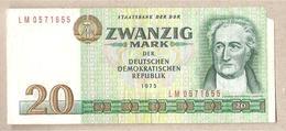 DDR - Banconota Circolata Da 20 Marchi P-29b - 1986 - [ 6] 1949-1990 : RDA - Rep. Dem. Tedesca