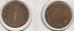 Danemark  1 Skilling  Rigsmont 1856  Denmark - Denmark