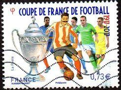 Oblitération Moderne Sur Timbre De France N° 5145 Coupe De Football, 100ème édition - France