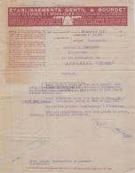 92 22156 BILLANCOURT SEINE 1924 Gres Flammes Mosaiques GENTIL - BOURDET - France