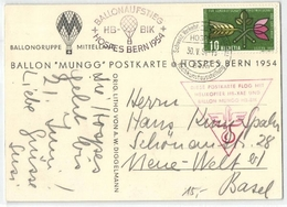 Ballonaufstieg - HB-BIK- Hospes Bern 1954 (476722) - Airmail