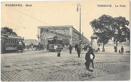 VARSOVIE WARSZAWA (Pologne) Pont En Fer Tramways électriques - Pologne