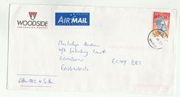 1998 Petroleum WOODSIDE ENERGY Illus ADVERT COVER Karrinyup Australia To GB Stamp On Stamps Energy Oil Gas - 1990-99 Elizabeth II