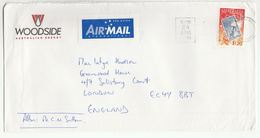 1999 Petroleum WOODSIDE ENERGY Illus ADVERT COVER Perth Australia To GB Stamp On Stamps Energy Oil Gas - 1990-99 Elizabeth II