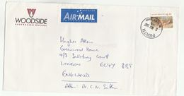 1997 Petroleum WOODSIDE ENERGY Illus ADVERT COVER Perth Australia To GB Bird Stamps Energy Oil Gas Birds - 1990-99 Elizabeth II