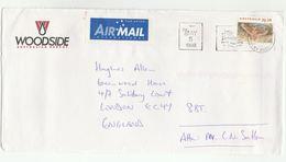 1998 Petroleum WOODSIDE ENERGY Illus ADVERT COVER Perth Australia FAMILY WEEK SLOGAN To GB Bird Stamps Oil Gas Birds - 1990-99 Elizabeth II