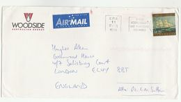 1998 Petroleum WOODSIDE ENERGY Illus ADVERT COVER Australia Sailing Ship Stamps To GB Oil Gas - 1990-99 Elizabeth II