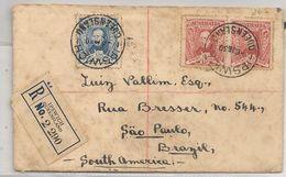 AUSTRALIA - 1930 Vf REGISTERED COVER Charles Sturt Set Yvert # 68 (x2) /69 From IPSWICH, QUEENSLAND To SAO PAULO, BRAZIL - Storia Postale