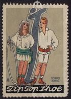 Tip Top Show Shoes Shoe / Fashion / USA Britain Germany - Art Nouveau - LABEL / CINDERELLA / VIGNETTE - Used - Textile
