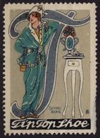Tip Top Shoe Shoes / Fashion / USA Britain Germany - Art Nouveau - LABEL / CINDERELLA / VIGNETTE - Used - Textile