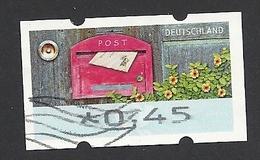 Bund, 2017, ATM Mi.-Nr. 9, Wertstufe 0,45 Euro, Gestempelt - Distributori
