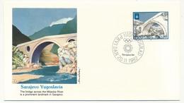 YOUGOSLAVIE - 4 Enveloppes FDC - Monuments - (Sarajevo 1984) - BEOGRAD 20/11/1982 - FDC