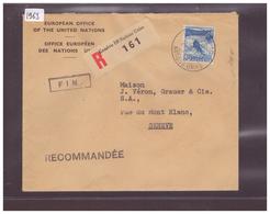 OFFICE EUROPEEN DES NATIONS UNIES - LETTRE RECOMMANDEE - Briefe U. Dokumente