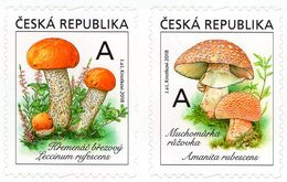 Czech Republic - 2018 - Edible Mushrooms - Mint Self-adhesive Stamp Set - Tchéquie