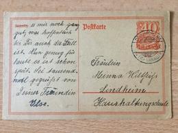 K5 Deutsches Reich Ganzsache Stationery Entier Postal P 141I Von Dörnigheim Nach Lindheim - Deutschland