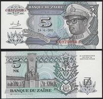 Zaire P 48 - 5 Nouveaux Makuta 24.6.1993 - UNC - Zaire