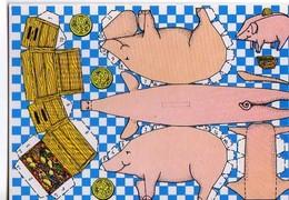 Carte A Decouper PARMENTIER, Cochon - Künstlerkarten