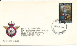 New Zealand FDC 11-10-1965 Christmas With Cachet - FDC