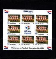 Soccer European Cup 1996 - Football - GAMBIA- Sheet Imp. MNH - Fußball-Europameisterschaft (UEFA)