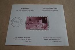 Feuillet Monument Roi Albert à L'Yser,17/02/1938. NEUF,charnière Sur Le Bord,voir Photo - Panes
